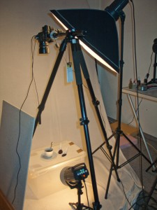 Studio Setup Durchlicht