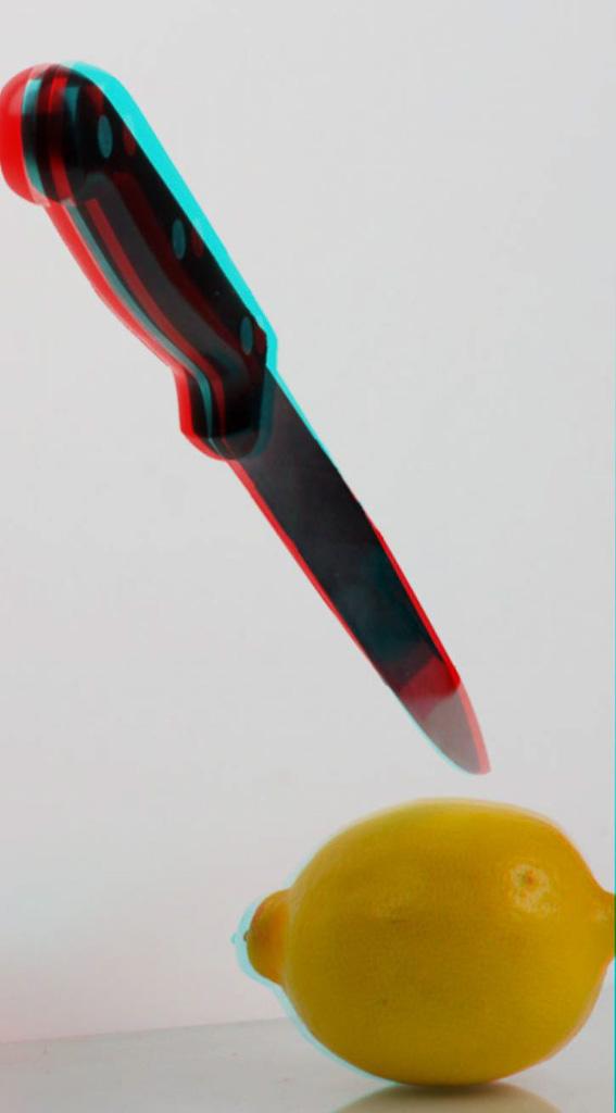 Messer und Zitrone
