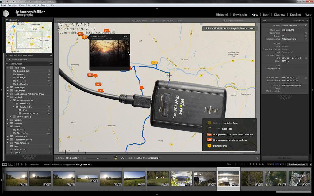 GPS, Kamera und LR 4